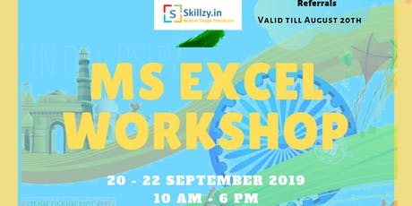 MS Excel Workshop tickets