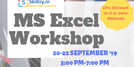MS Excel Workshop tickets