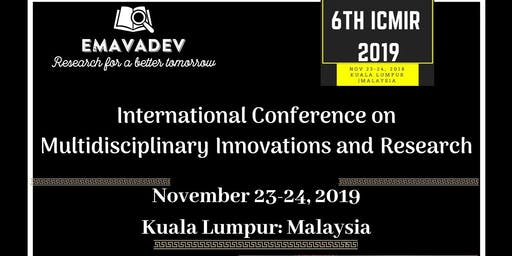 International Conference on Multidisciplinary Innovations and Research (ICMIR 2019)