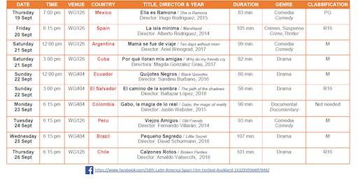 XVIII Latin America & Spain Film Festival - Viejos Amigos / Old Friends