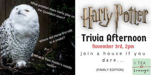 Harry Potter Trivia Afternoon - Family Edition