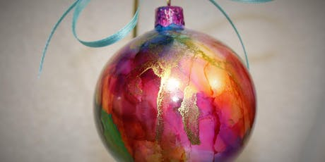Christmas ornaments painting tickets