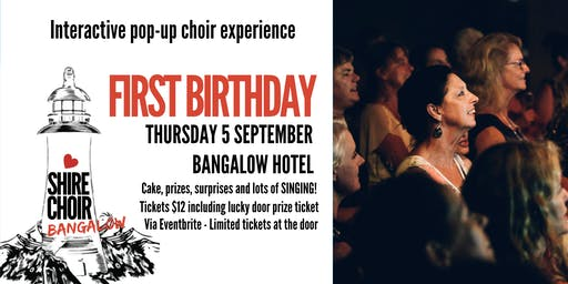 Shire Choir Bangalow - 1st Birthday September 2019