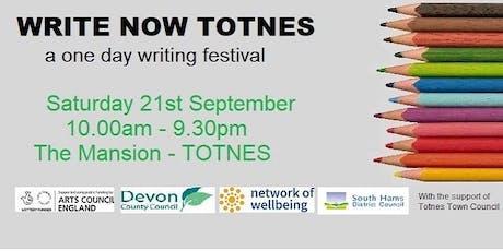 Write Now Totnes: Performance, Totally Tasteless Topics tickets