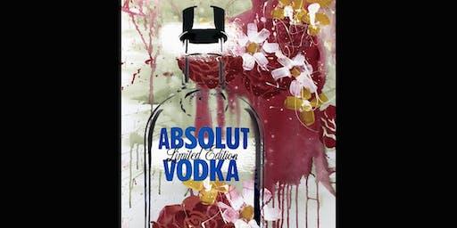 Absolut Vodka Bottle Limited Edition Paint and Sip Brisbane 24.8.19