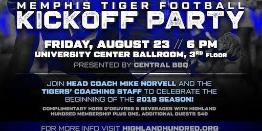 """Memphis Football """"Kickoff"""" Party"""
