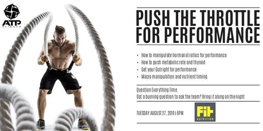Fit Nutrition & ATP Science present a FREE seminar on maximising performance.