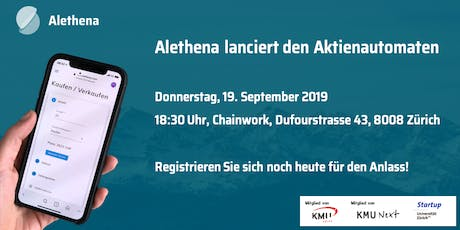 Alethena lanciert den Aktienautomaten Tickets