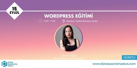 WordPress Eğitimi [ÜCRETLİ] tickets
