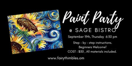 Paint Party  at Sage Bistro tickets