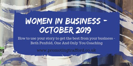 Women in Business - Trafford - October Networking tickets