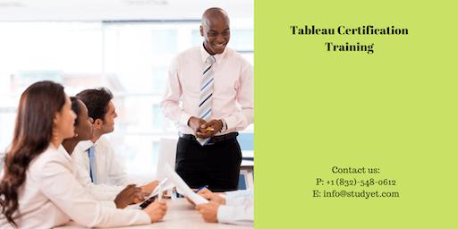 Tableau Certification Training in Monroe, LA