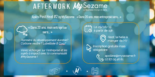 Afterwork MySezame - business à impact