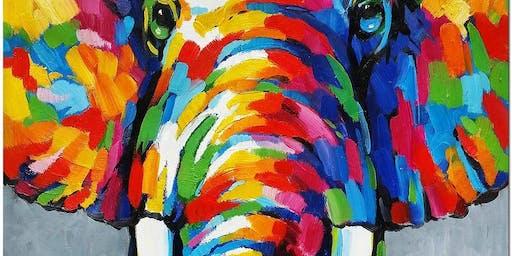 Colourful Elephant - Art Class