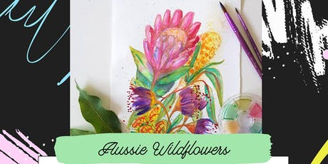 Pop-up Art & Sip // Aussie Wildflower // Watercolour tickets