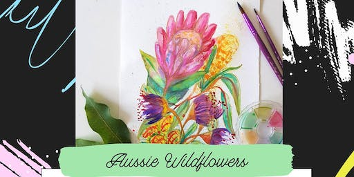 Pop-up Art & Sip // Aussie Wildflower // Watercolour