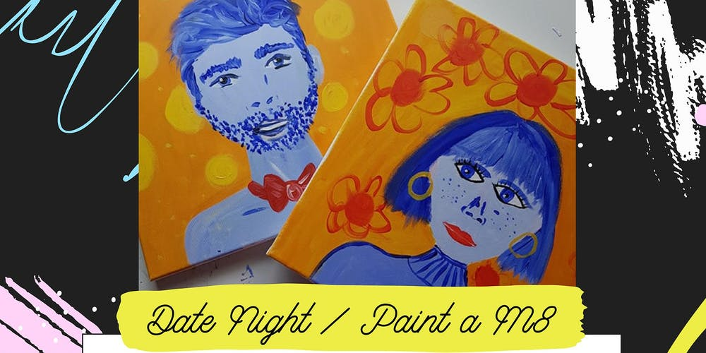 Pop-up Art & Sip // Date Night - Paint your Mate // Acrylic