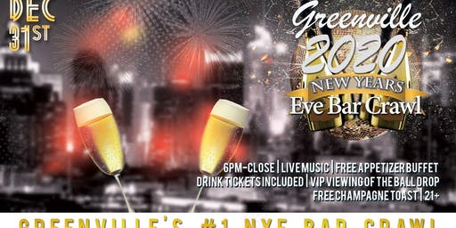 Greenville NYE Bar Crawl