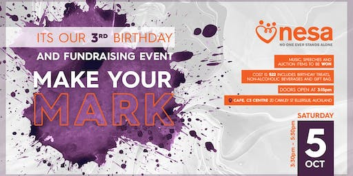 NESA - Its our 3rd Birthday and Fundraising Event