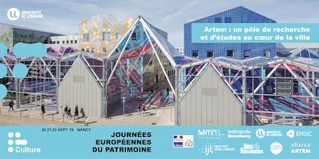 JEP 2019 : Artem, un pôle de recherche et d'études au cœur de la ville billets