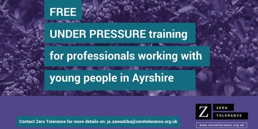 Under Pressure Training for Youth Workers - Ayrshire