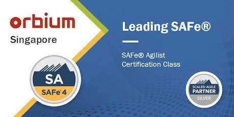 Leading SAFe® (Scaled Agile Framework) - SAFe® Agilist tickets