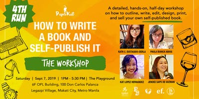 How To Write A Book & Self-Publish It [The Workshop] - 4th Run!