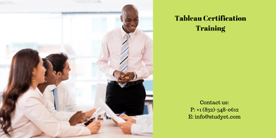 Tableau Certification Training in Savannah, GA