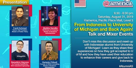 From Indonesia to University of Michigan and Back Again: Talk and Mixer Eve tickets
