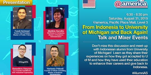 From Indonesia to University of Michigan and Back Again: Talk and Mixer Eve