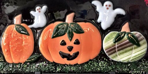 Halloween Pumpkin Panel Fused Glass Class
