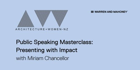 A+W Public Speaking Masterclass: Presenting with Impact tickets