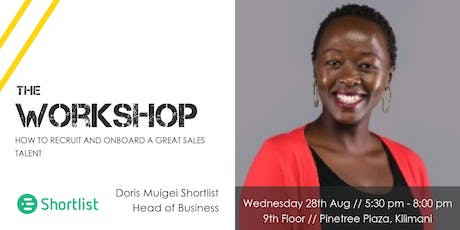 Workshop // How to recruit and onboard top sales talent tickets