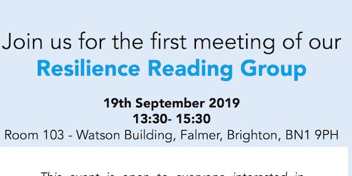 Centre of Resilience for Social Justice - Resilience Reading Group