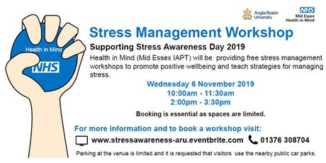 Stress Management Workshop (10am) tickets