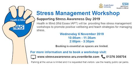 Stress Management Workshop (2pm) tickets