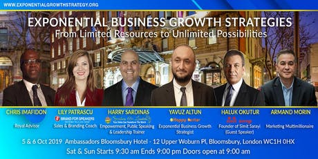 Exponential Business Growth Strategies on October 5 and 6 tickets