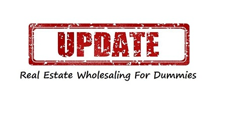Real Estate Wholesaling For Dummies tickets