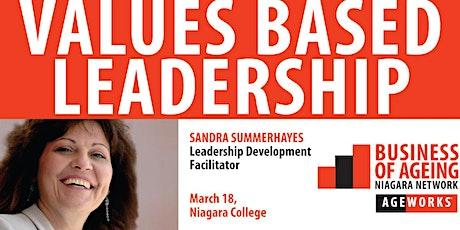 BANN Values Based Leadership tickets