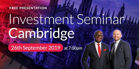Cambridge Investment Seminar on Buy2LetCars tickets