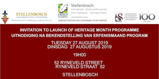 INVITATION TO LAUNCH OF HERITAGE MONTH PROGRAMME