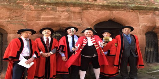 Tudor Tour of Coventry with costumed character tour guide Paul Curtis Tours