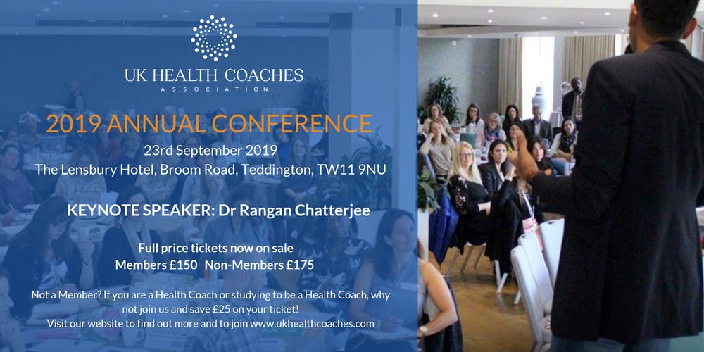 UK Health Coaches Annual Conference Tickets, Mon 23 Sep 2019