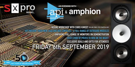 SX Pro presents... an evening with API and Amphion tickets