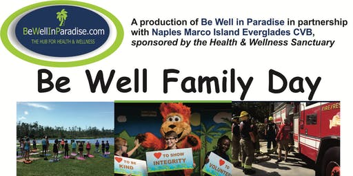 Be Well Family Day (FREE) Part of World Wellness Weekend