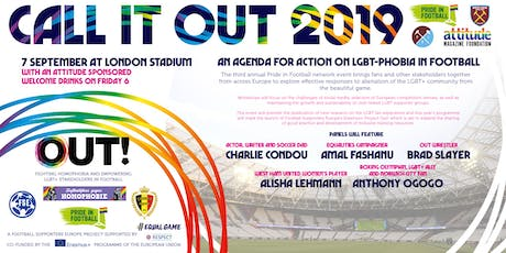 Call it Out 2019: a Europe-wide agenda for action on LGBTphobia in Football tickets