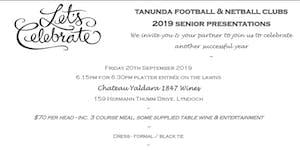 2019 TFC & TNC Senior Presentation Night