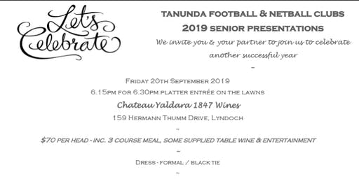 2019 TFC & TNC Senior Presentation Night