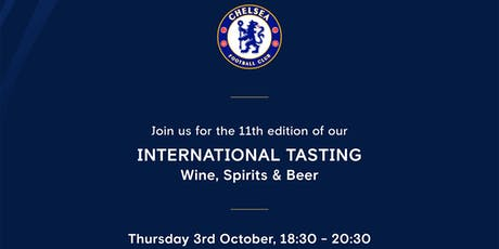 2019 International Wine, Spirits & Beer Tasting at Chelsea FC tickets