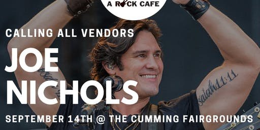 Seeking Vendors for Joe Nichols